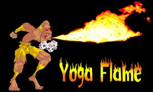 Dhalsim doing yoga flame-fire by Colombianit0