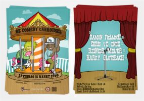 Comedy Carrousel Flyer by miZter-maZe