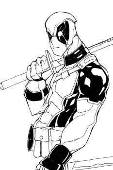 Deadpool quickie by Hybrid-7