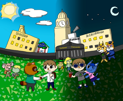 Animal Crossing College Life by sackchief