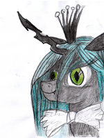 Queen chrysalis with bowtie by hippik