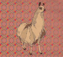 Pattern Design- Llama by spicysteweddemon