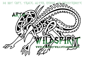 Knotwork Alien Tattoo by WildSpiritWolf