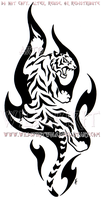 Climbing Flame Tiger Design by WildSpiritWolf