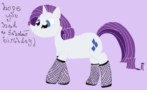 Rarity be stylin' for your birthday! by IronBrony