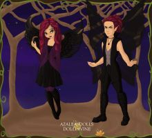 Scarlette And Thrax As Fairys by briannamason7