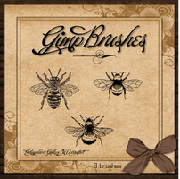 GIMP Brushes |Three Bumble Bee's by TheAngeldove