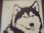 Tribal Wolf by FireheartTheInferno
