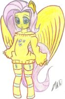 Fluttershy (Colored) by MLOpl
