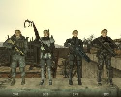 Soldiers Timeline 2 - Female by RayneR27