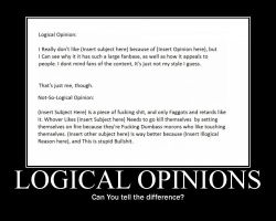 Logical Opinions -demotivation- by Dragunov-EX