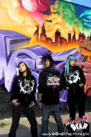 Pink Caddy Hoodie Group Shot by BleedingStarClothing