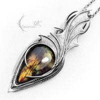 ZYNTHRILL - silver and labradorite. by LUNARIEEN