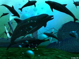 Dolphins Treasure Wreck II by drumthrasher4hr