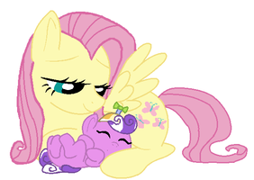 Fluttershy And Screwball by DisneyFanatic2364