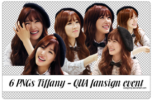 Pack 6 PNGs Tiffany@QUA fansign event by SickyJinny