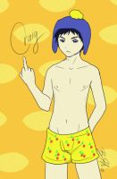 Craig has silly underpants by DragonSapphire