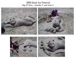 Sand Art Kitty by AmyClark