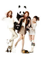 [Render] Sooyoung Seohyun Taeyeon SNSD by HanaBell1