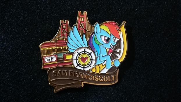 Rainbow Dash in San Franciscolt Pin by SouthParkTaoist