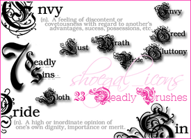 7 Deadly Sins - Brushes by kissncontrol
