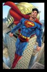 Superman over Metropolis by gammaknight