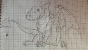 Dragon Sketch by CelCel98