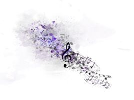Splatter music tattoo by samm-xox