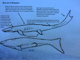 How not to Mosasaur by snugglesthedinosaur