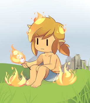 Flaming Lonk by Drawn-Mario