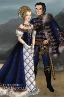 Blue Hussar and his lady by Yagellonica