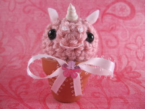 Pink Unicorn Seedling by AmiTownCreatures