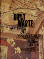 Don't waste your time ~ by jojoalex