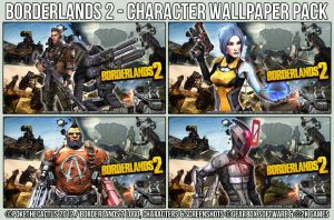 Borderlands 2 - Character Wallpaper Pack by PokeTheCactus