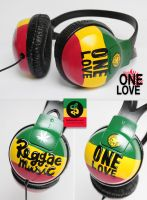Reggae Music Headphones by Bobsmade