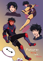 Big Hero 6: Future! Hiro and GoGo by medatelle