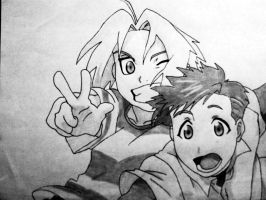 Edward and Alphonse Elric by AvianFighter