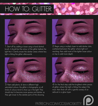 How To: Glitter by CosmosKitty