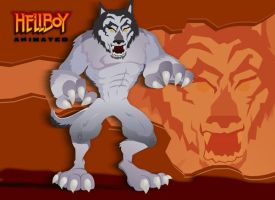Hellboy Animated : Wolfie by mojomann