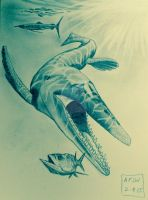Niobrara Nasties-Tylosaurus and friends by Franz-Josef73