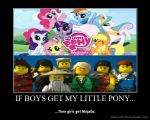 If boys get My Little Pony... by Bellaluvscuteness