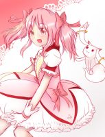 Madoka and Kyubey by Divine-Princess