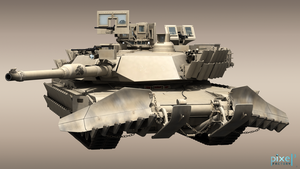 M1A2 Abrams with Mine Plow by Pixel3Factory