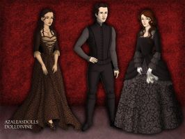 Cosette, Eponine, and Marius by AidaPascal999