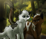 Brokenclaw and Ivypool by shadowfeather01