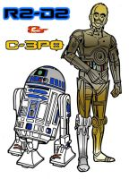 R2-D2 And C-3PO 09 by Beast72