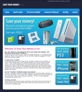 SaveYourMoney.CO.UK - Website by leviiathan