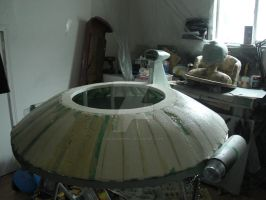 Rooftop Flying Saucer Project 01 by sicklilmonky