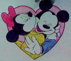 Mickey and Minnie by cuoredivetroo