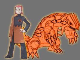 Orange Agent Maxie w Groudon Avatar by Lord-Lycan